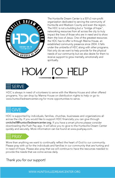 Huntsville Dream Center – How To Help